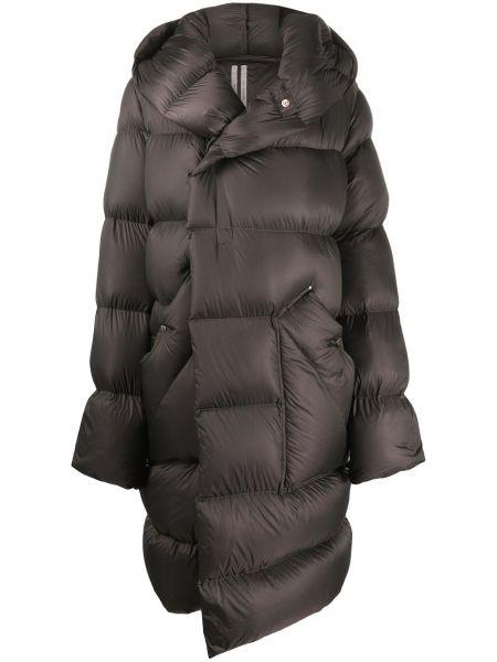 Bawełna klasyczny wełniany długi płaszcz z kieszeniami Rick Owens
