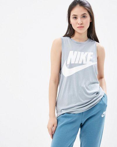 Серая майка Nike