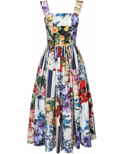Ватное хлопковое платье миди пэчворк Dolce & Gabbana