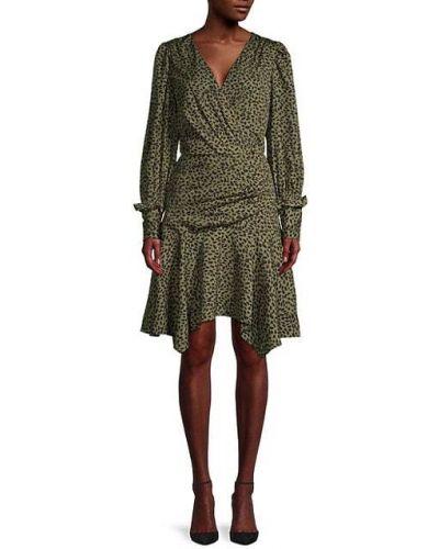 Зеленое платье макси с длинными рукавами с подкладкой Walter Baker