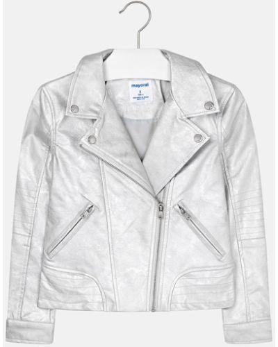 Куртка кожаная серебряный Mayoral