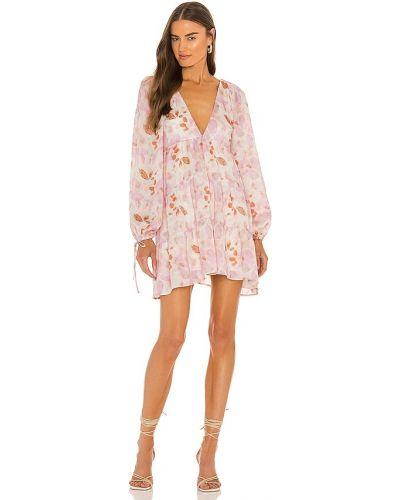 Платье мини с открытой спиной - розовое House Of Harlow 1960