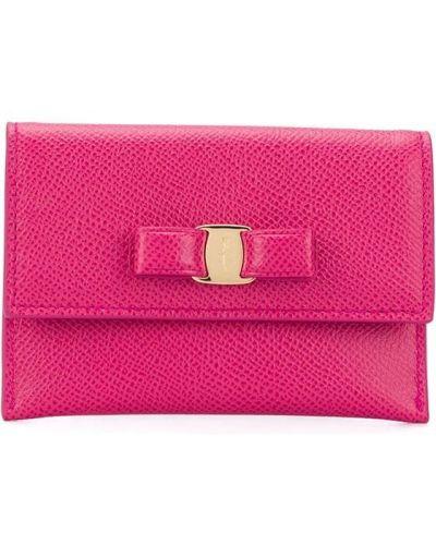 Кожаный розовый бантик Salvatore Ferragamo