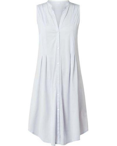 Niebieski bawełna bawełna koszula nocna bez rękawów Hanro