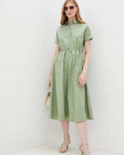 Зеленое платье рубашка Zolla