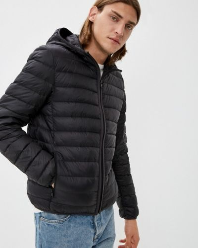 Утепленная куртка - черная United Colors Of Benetton