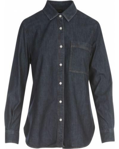 Niebieska koszula jeansowa Aspesi
