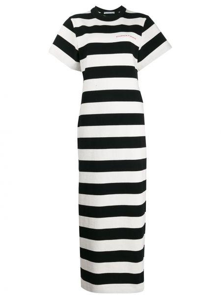 Sukienka długa w paski - biała Alexander Wang
