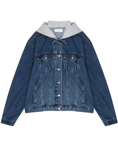 Куртка с капюшоном джинсовая оверсайз D.o.t.127