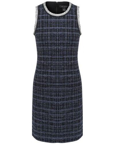 Синее шелковое платье с подкладкой St. John