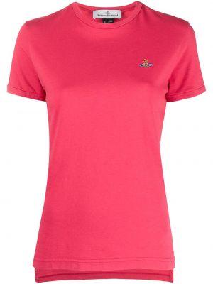 Красная с рукавами футболка с вырезом Vivienne Westwood