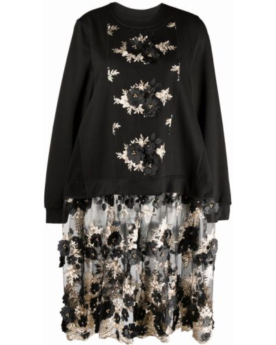 Czarna sukienka z długimi rękawami Antonio Marras