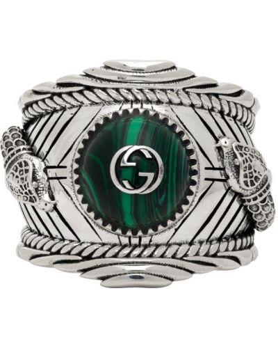 Зеленое кольцо Gucci