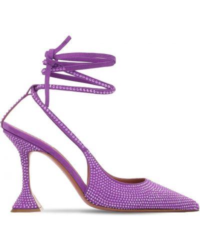 С ремешком замшевые туфли-лодочки на каблуке Amina Muaddi