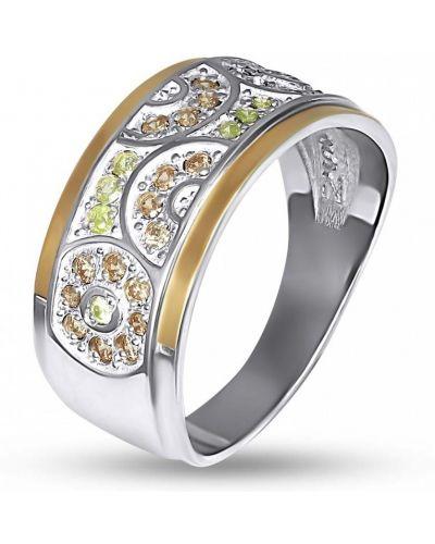 Кольцо с камнями - желтое Bigsun
