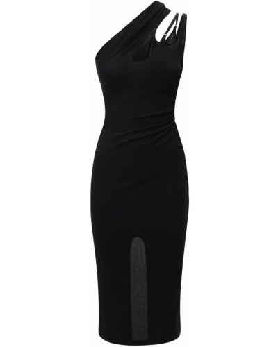Асимметричное с ремешком платье с разрезом Mugler