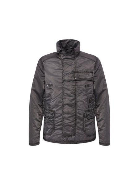 Нейлоновая черная куртка свободного кроя с воротником Harley Davidson