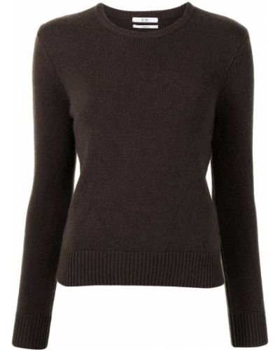 Kaszmir prosto sweter z okrągłym dekoltem z długimi rękawami Co