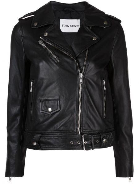 Куртка черная байкерская Stand Studio