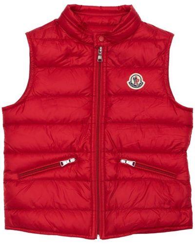 Красная жилетка с подкладкой на молнии Moncler