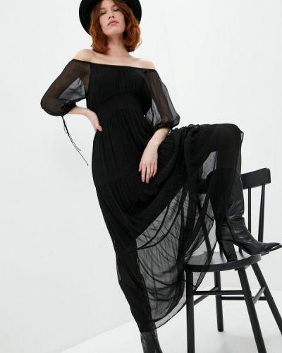 Черное платье с открытыми плечами The Kooples