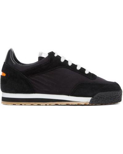 Нейлоновые черные кроссовки на шнуровке с заплатками Spalwart