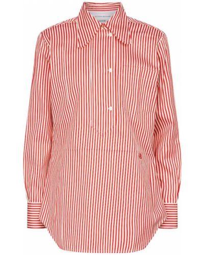 Шелковая белая рубашка в полоску Victoria Beckham