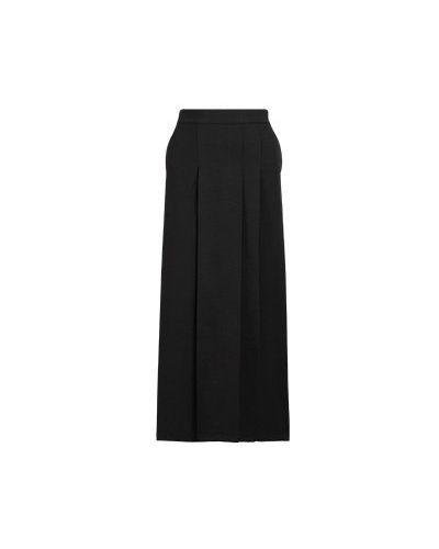 Черная юбка миди из вискозы Vuall
