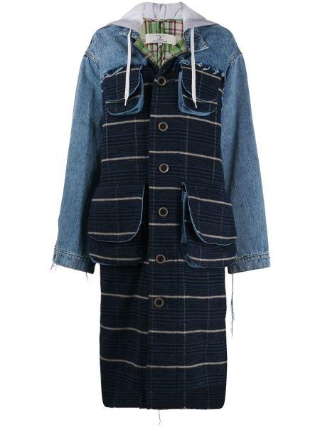 Синее длинное пальто Natasha Zinko