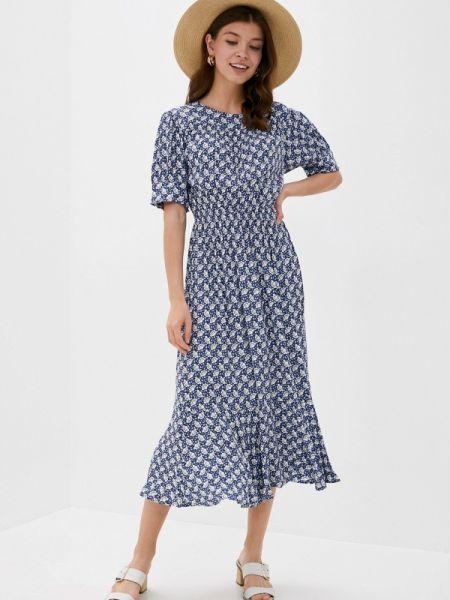Синее повседневное платье Marks & Spencer