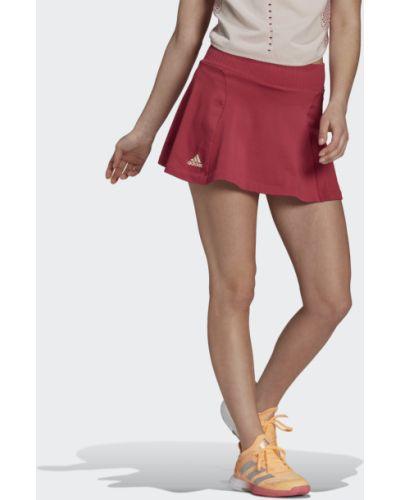 Розовая теннисная плиссированная юбка Adidas
