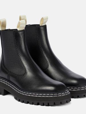 Czarny buty z prawdziwej skóry Proenza Schouler