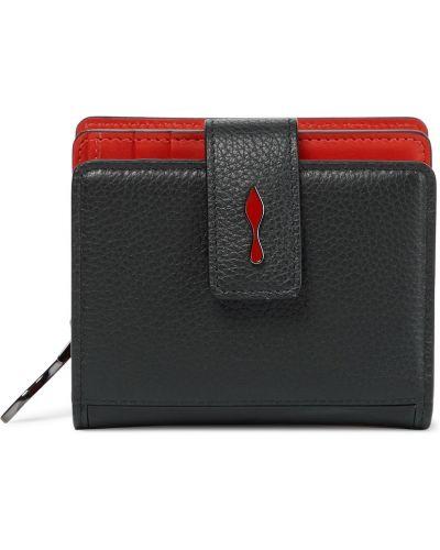 Czarny portfel skórzany Christian Louboutin