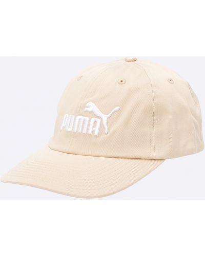 Бежевая шапка хлопковая Puma