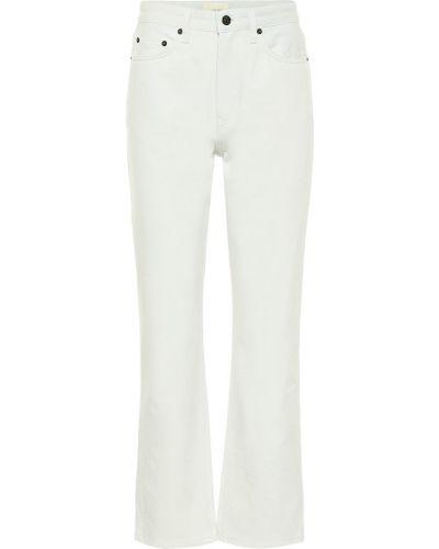 Прямые ватные хлопковые прямые джинсы The Row