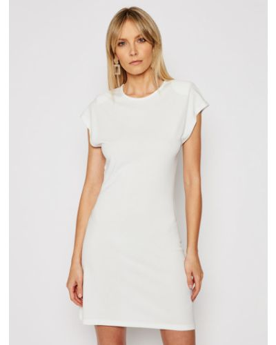 Biała sukienka casual Silvian Heach