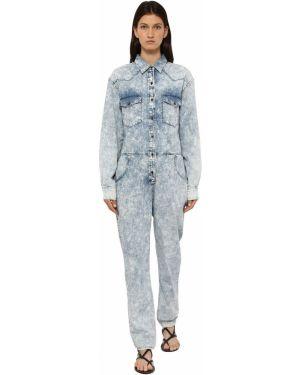Kombinezon z długimi rękawami - niebieski Isabel Marant Etoile