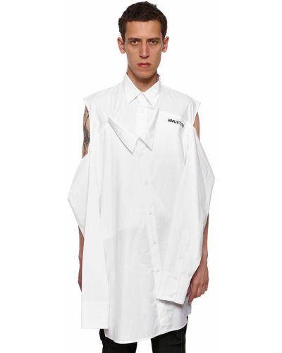 Klasyczna koszula bawełniana z haftem z długimi rękawami Bmuet(te)