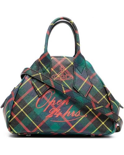 Кожаная сумка - зеленая Vivienne Westwood