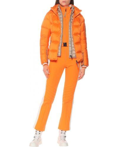 Оранжевая пуховая теплая куртка Bogner