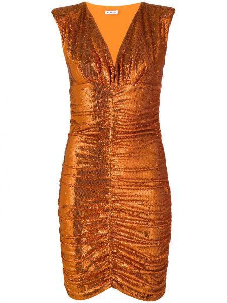 Платье с пайетками с V-образным вырезом P.a.r.o.s.h.