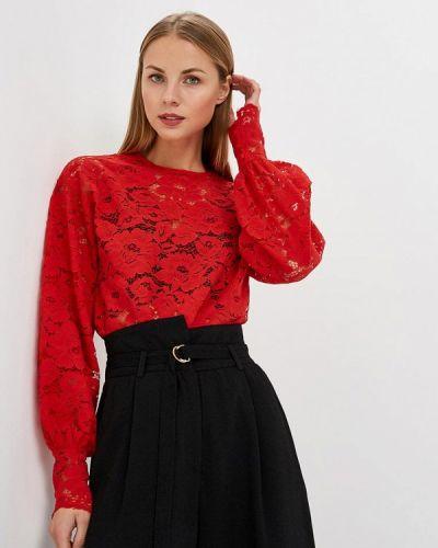 Красная блузка кружевная Sweewe