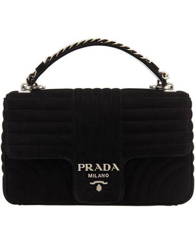 Сумка на цепочке кожаный стеганая Prada