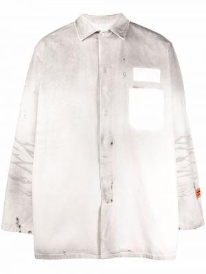Biała koszula z długimi rękawami - biała Heron Preston
