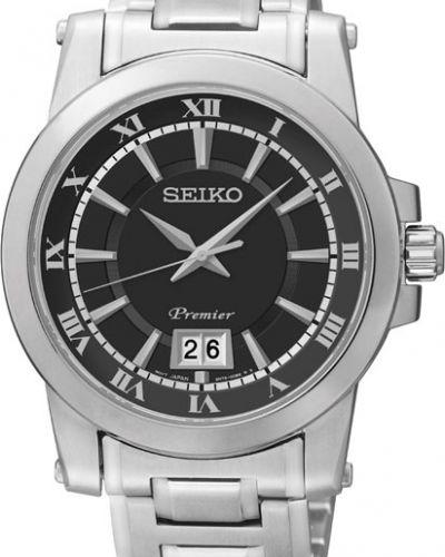 Часы водонепроницаемые большой серые Seiko
