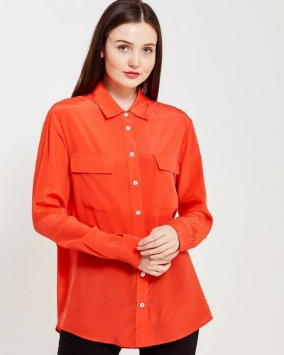 С рукавами красная блузка ли-лу