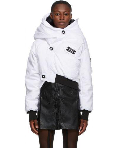 Пуховая белая длинная куртка для полных Y Project