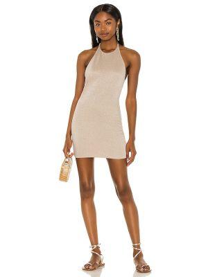 Złota sukienka mini Lovewave