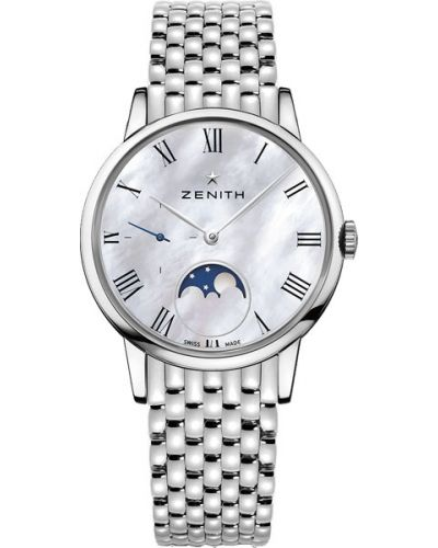 Водонепроницаемые часы серые серебряный Zenith