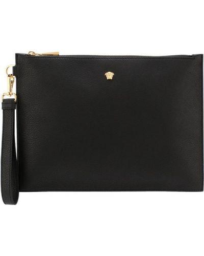 Черная барсетка Versace
